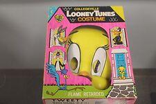 Vintage 1987 Collegeville Looney Tunes TWEETY Halloween Costume NOS