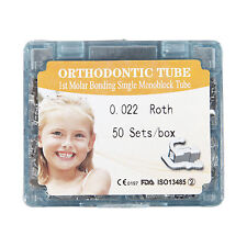 50set/box Dental orthodontic 1st molar non-convertible roth 022 buccal tube XF98