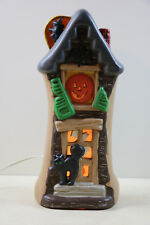 Vintage Lighted Ceramic Halloween Haunted House RARE Yozi Mold