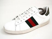 6fef9e172 Gucci Ace Sneakers Trainers White Leather Mens Shoe size US 8.5 EU 41.5 $680