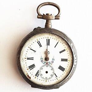 Pocket Watch Silver (S924)