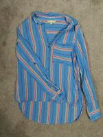 Brand New NEXT UK Size 10 Shirt For Women - Blue with Coloured Stripes