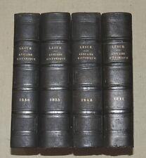 ANNUAIRE HISTORIQUE UNIVERSEL... pour 1835-1840-1841 et 1848 - 4 volumes reliés