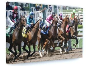 HORSE RACING ANIMAL CANVAS PICTURE PRINT WALL ART D261