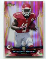 2014 TOPPS FINEST DE'ANTHONY THOMAS RED REFRACTOR RC 27/50 CHIEFS