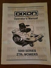 Dixon ZTR 5000 Series Operator's & Parts Manual RAM 52ZT, 52ZT BF, 48ZT, 48ZT BF