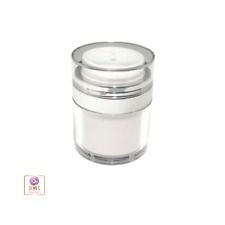 Airless Pump Jars Refillable Beauty Packaging Container 30ml 1oz 50 pcs #3630