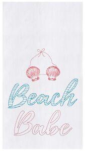 Beach Babe Flour Sack Kitchen Towel Cotton 27 Inch
