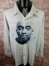 Vintage Tupac Makaveli Long Sleeve Embroidered Poem 2Pac Hip Hop Rap Tee 3XL