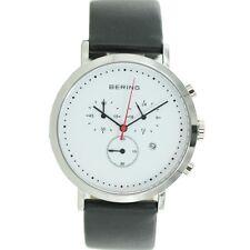 Bering Herren Uhr Armbanduhr Slim Classic Chronograph - 10540-404 Leder
