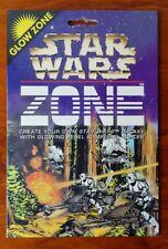 Vintage Glow Zone Star Wars ZONE Glow In The Dark Stick-Ons Stickers