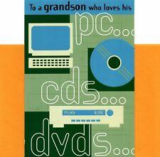 Happy Birthday Grandson Computer Computing Devices CD DVD Hallmark Greeting Card