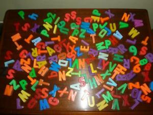Vintage Plastic Magnetic Letters 155 Letters & Numbers Fisher Price Mixed Lot
