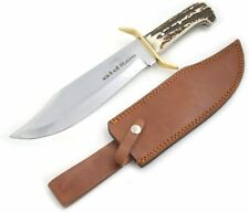 Old Ram Handmade Full Tang J2 Steel Fully Functional Stag Handle Bowie Knife
