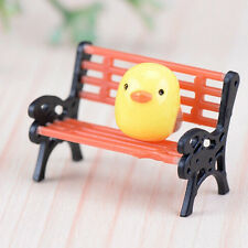 New Lovely Garden Ornament Miniature Park Seat Bench Craft Fairy Dollhouse Decor