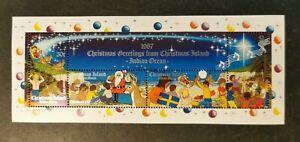 Christmas Island 1987 Christmas m/s MUH AGj40