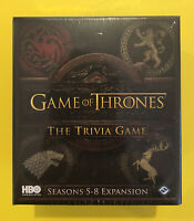 Game Of Thrones The Trivia Game Seasons 5-8 Expansion HBO Home Box Office NEW IB