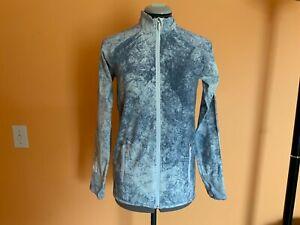 Lululemon Blue long sleeve Tie Dye Zip-Up pockets Size 8