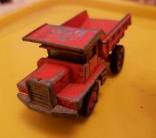 Vintage Dump Truck - Orange - Matchbox - Good Con - Used