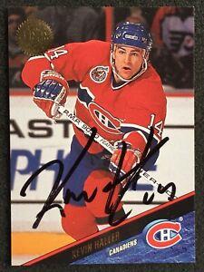 KEVIN HALLER 1993-94 Leaf #223 IP Auto Autograph Signature MONTREAL CANADIENS