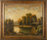 T. Tenant - Signed& Framed Early 20th Century Oil, By the Riverside