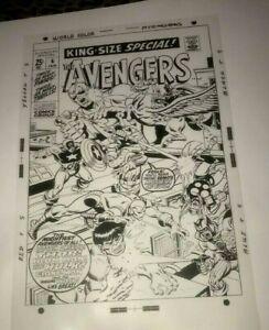 Avengers Captain America Hulk Thor Astonish Marvel Cover Production Art Acetat