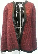 WOMEN'S RED AND BLACK LIGHT DINNER JACKET BY ALFRED DUNNER SIZE 16