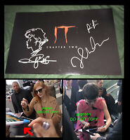 Jessica Chastain signed IT Chapter 2 poster photo Sophia Lillis Muschietti
