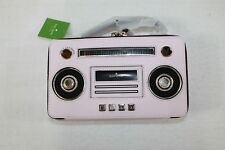 Kate Spade Boom Box Handbag Clutch Pink Leather With Gold Plate Detail