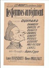 PARTITION LES FEMMES AU REGIMENT par OUVRARD BOUSQUET Editeur