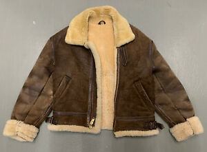 Vintage Chevignon Genuine Leather Pilot Jacket Brown Men Size XL