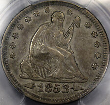 "1853 Seated Liberty Quarter ""Arrows and Rays"" Choice PCGS EF-45...Original, NICE"