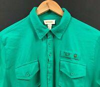 DIESEL Men's Green Short Sleeve 'Only The Brave' Pocket Polo Shirt sz L Large