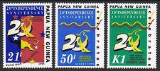 Papua New Guinea 879-881, MNH. Independence, 20th anniv. Map,symbolic bird, 1995
