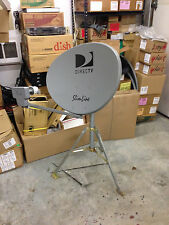 DIRECTV Portable Satellite Dish SL3 / 4 port lnb  tripod RV Tailgating Camping