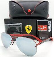 NEW Rayban Ferrari sunglasses RB3460M F0126G Red 3460 Aviator Carbon F AUTHENTIC