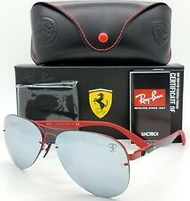 NEW Rayban Ferrari sunglasses RB3460M F0126G Red 3460 Aviator Carbon F AUTHENTIC