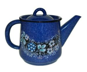 1.1-Qt Blueberry BREWING TEAPOT / Small Kettle. Sturdy Durable,Made in Russia