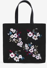 NWT White House Black Market Floral Embroidered Tote 👜