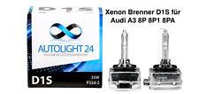 2 x Xenon Brenner D1S Audi A3 8P 8PA auch Sportback Lampen Birnen E-Zulassung