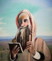 """perfect 20x24 oil painting handpainted on canvas""""Moroccan Teacher"""" NO4123"""