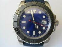 STUNNING AZURE BLUE DIAL 30M DIVERS SUBMARINERS GENTS AUTO MECHANICAL WATCH