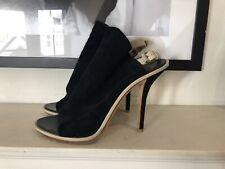Balenciaga Black Suede Open Toe Sandals