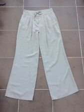 New Wallis Ladies Taupe Light Weight Smart Drawstring Trousers UK 10 Leg 31 AT54