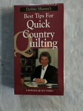 New Debbie Mumm's Best Tips For Quick Country Quilts VHS 1996 Rodale Quilt Video