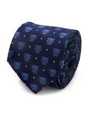 Black Panther Men's Tie 100% Silk Marvel Comics Disney Blue New In Box