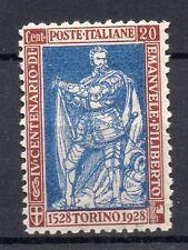 1928 REGNO E. FILIBERTO 20 CENTESIMI LINGUELLATO MLH D/4722