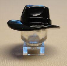 x1 NEW Lego Minifig Headgear Hat Wide Brim Outback Style Fedora Black