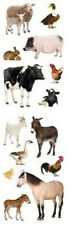 Mrs. Grossman's Stickers - Barnyard Animals - Horse, Goat, Cow, Pig - 4 Strips