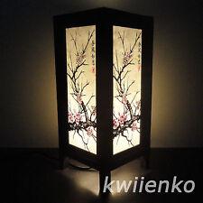 Asian Oriental Japanese Sakura Cherry Blossom Tree Branch Art Bedside Table Lamp